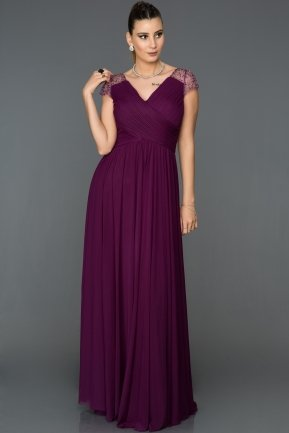 Long Purple Evening Dress ABU025