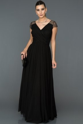Long Black Evening Dress ABU025