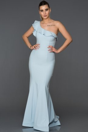 Long Light Blue Mermaid Prom Dress AB7436