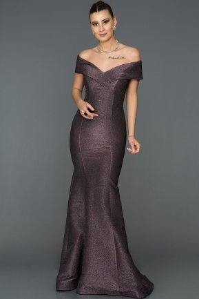 Long Violet Mermaid Evening Dress ABU042