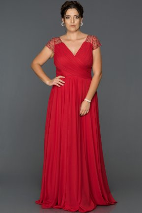 Long Red Plus Size Evening Dress AB2608