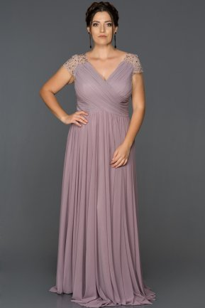 Long Lavander Plus Size Evening Dress AB2608