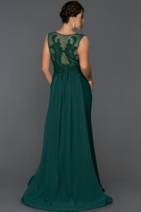 Long Emerald Green Oversized Mermaid Evening Dress AB7052