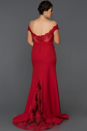 Long Red Oversized Evening Dress AB2376