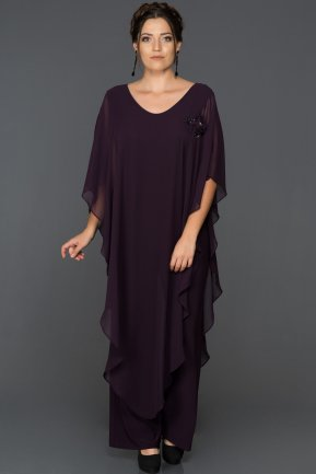 Dark Purple Plus Size Jumpsuit ABT006