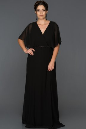 Long Black Oversized Evening Dress AB4369
