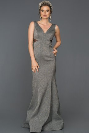 Long Grey Mermaid Prom Dress AB7501