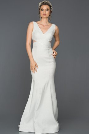 Long Silver Mermaid Prom Dress AB7501