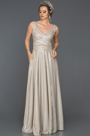 Long Mink Engagement Dress AB7539