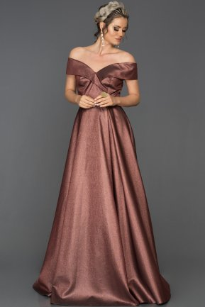 Long Copper Engagement Dress AB1565