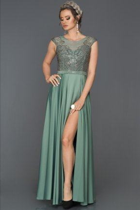 Long Turquoise Engagement Dress AB4428