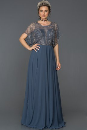 Long İndigo Engagement Dress AB4672