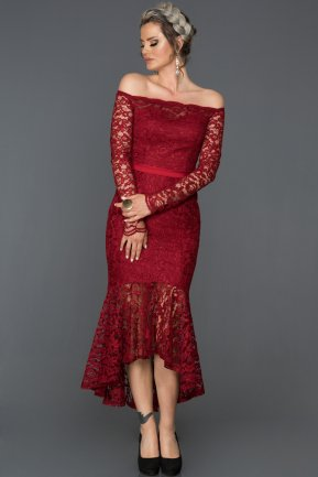 Burgundy Invitation Dress AB1007