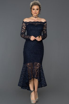Navy Blue Invitation Dress AB1007