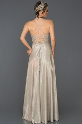 Long Silver Prom Gown AB2628