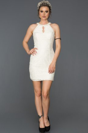 Mini White Invitation Dress AB3107