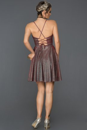 Short Burgundy Invitation Dress AB3116