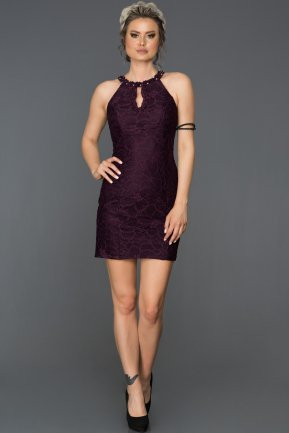 Mini Plum Invitation Dress AB3107