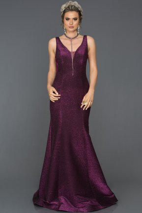 Long Fuchsia Mermaid Evening Dress AB7424