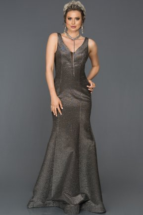 Long Black-Silver Mermaid Evening Dress AB7424