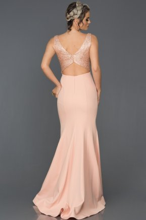 Long Powder Color Mermaid Evening Dress AB7439