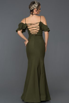 Long Olive Drab Mermaid Prom Dress AB7486