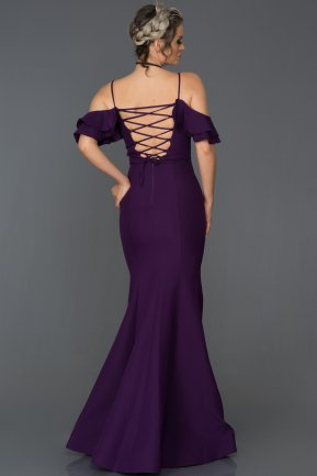 Long Purple Mermaid Prom Dress AB7486