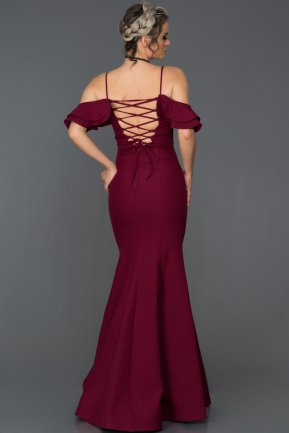Long Plum Mermaid Prom Dress ABU035