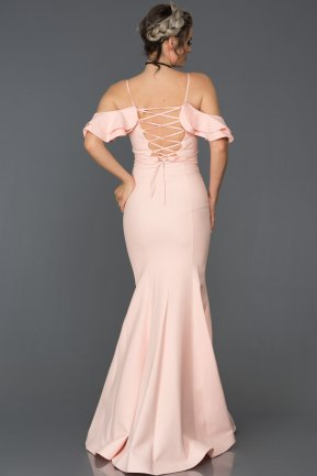 Long Powder Color Mermaid Prom Dress ABU035