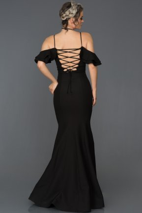 Long Black Mermaid Prom Dress ABU035