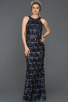 Long Navy Blue Evening Dress AB7497