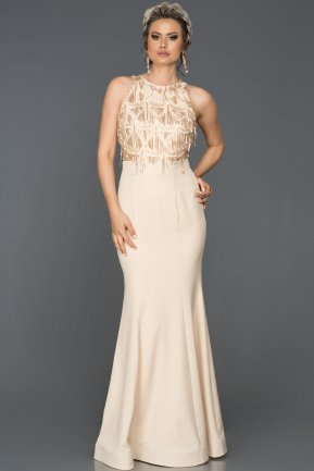 Long Gold Mermaid Prom Dress AB7498