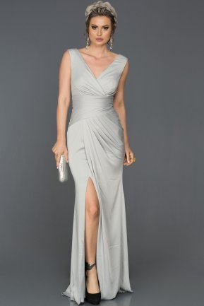 Long Grey Prom Gown AB4427