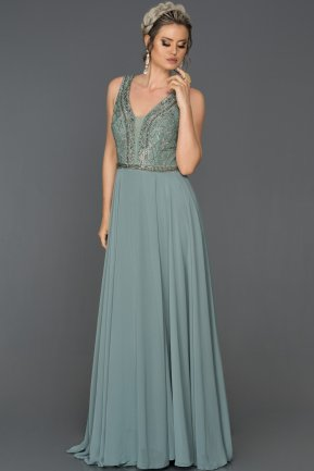 Long Firuze Mermaid Evening Dress AB4498