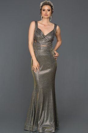 Long Antrasite Mermaid Evening Dress AB4547