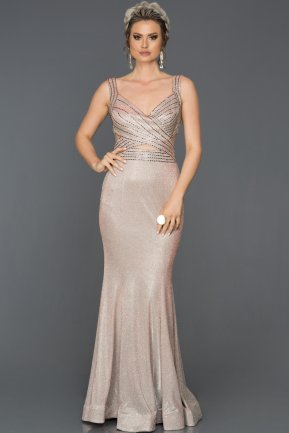 Long Mink Mermaid Evening Dress ABU067