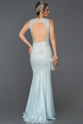 Long Light Blue Mermaid Prom Dress AB302