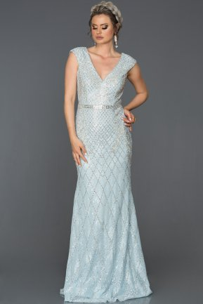 Long Blue Engagement Dress AB303