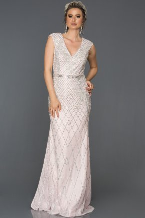 Long Pink Engagement Dress AB303