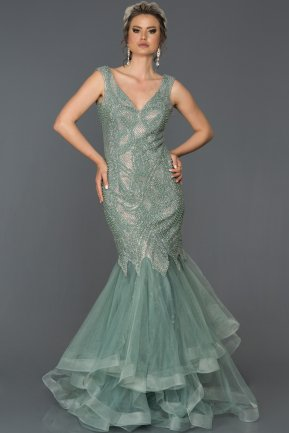 Long Firuze Mermaid Prom Dress AB307