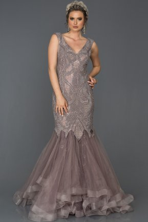 Long Lavander Mermaid Prom Dress AB307