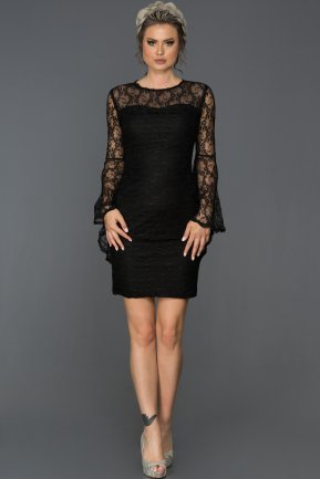 Short Black Evening Dress L8009