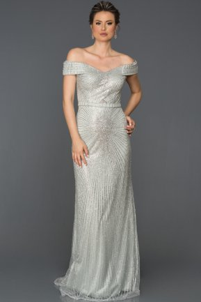 Long Grey Engagement Dress AB2631