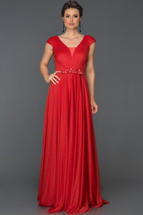 Long Red Engagement Dress AB4574