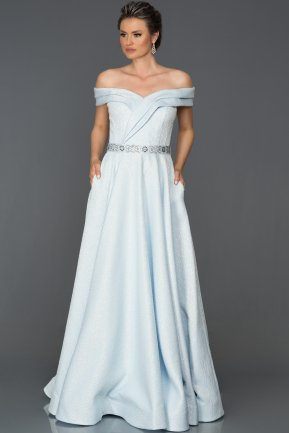 Long Blue Engagement Dress ABU034