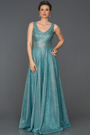 Long Blue Engagement Dress AB4789