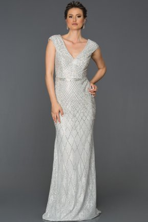 Long Grey Engagement Dress AB303