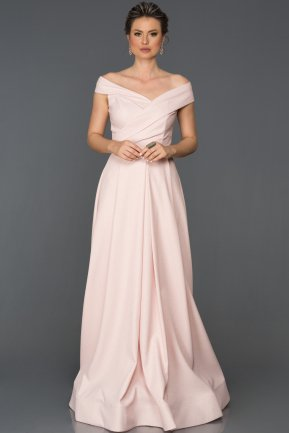 Long Pink Engagement Dress AB4550