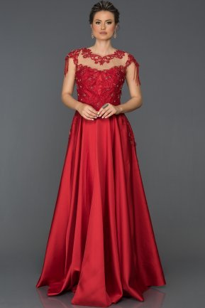 Long Red Engagement Dress AB4559