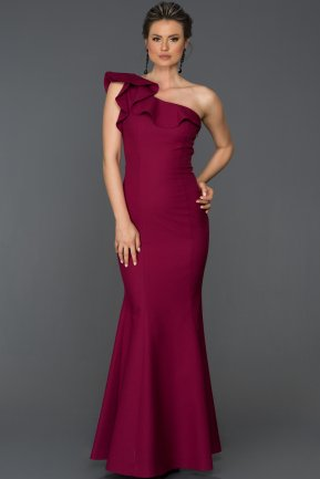 Long Plum Mermaid Prom Dress ABU068